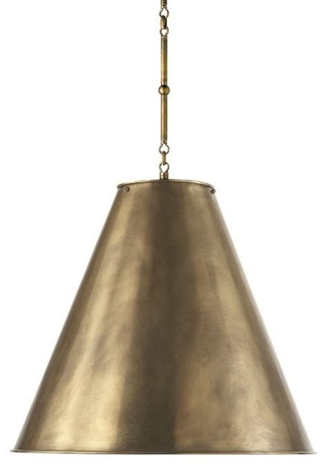 Brass Pendant Light Garrison Pendant Antique Brass Modern Pendant Lighting By Williams Sonoma
