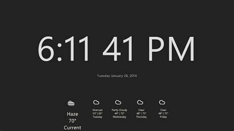 Free Live Tile Clock Wallpaper For Desktop by Windows Store Apps Display Time Clock Tile On Windows 8