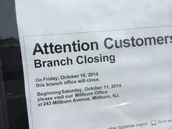 Closing Restaurant Letter To Customers Santander Maplewood Branch To October 10 The Green