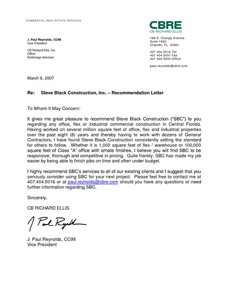 Recommendation Letter Format Employment best photos of sle reference letter of recommendation