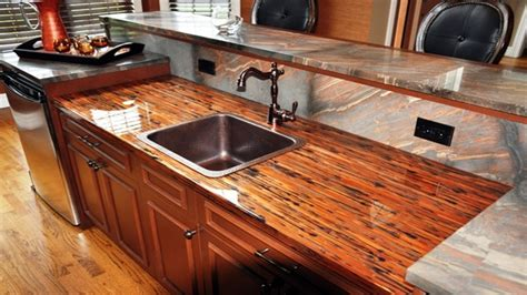 cost effective countertop ideas crushed glass countertop