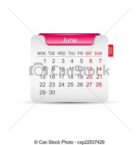 Calendrier 5 Juin 2015 Illustration Vecteur De Calendrier Vecteur Juin