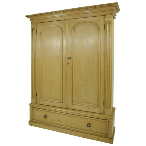 b281 large pine two door armoire wardrobe display pantry