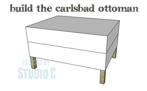 How To Build An Ottoman Frame Ottoman To Match The Carlsbad Chair Designs By Studio C