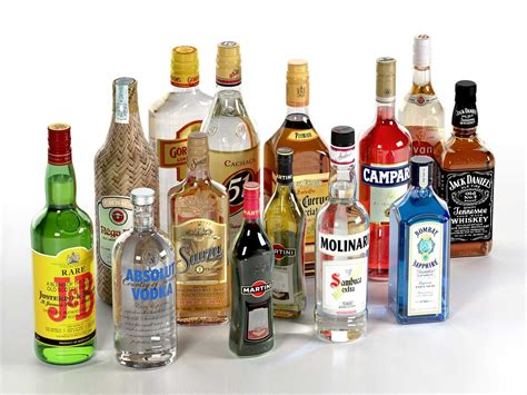 alcoholic drink collection of alcoholic drinks
