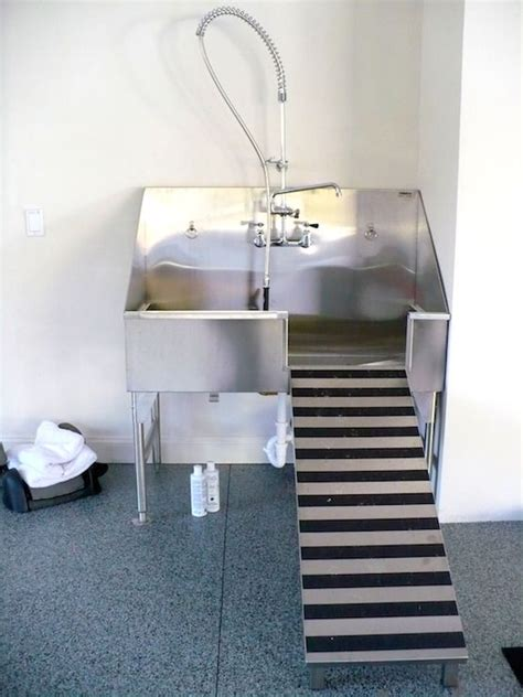 dog friendly home  stainless steel dog shower