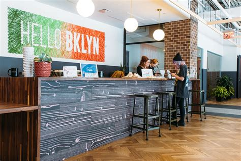 Front Desk Hq by A Look Inside Wework S Williamsburg Coworking Space