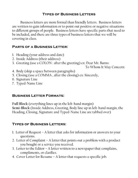 Forms Of Business Letter Pdf different exles of business letters letters free
