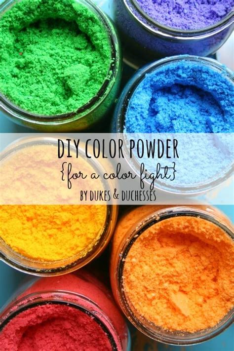 color run powder diy diy color powder for a color fight dukes and duchesses