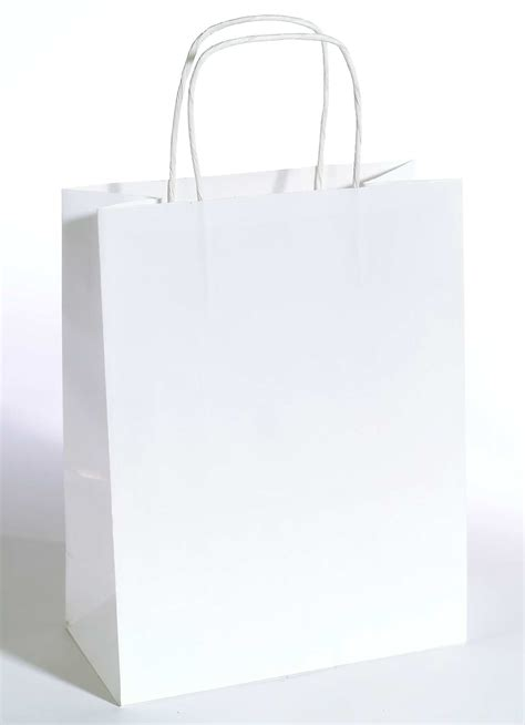 How To Paper Bags - decorado paper bag white for your decoration