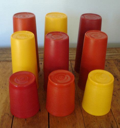 Drink A Lot Tupperware vintage tupperware autumn harvest lot of 9 tumbler