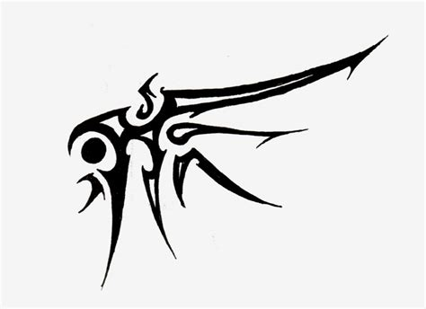 tribal wing tattoo by logical primate on deviantart
