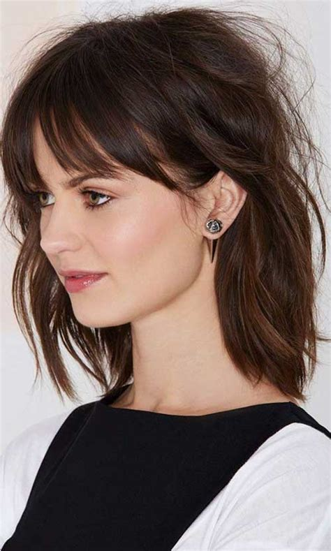 Medium Hairstyles For Hair With Bangs by 20 Best To Medium Length Haircuts Hairstyles