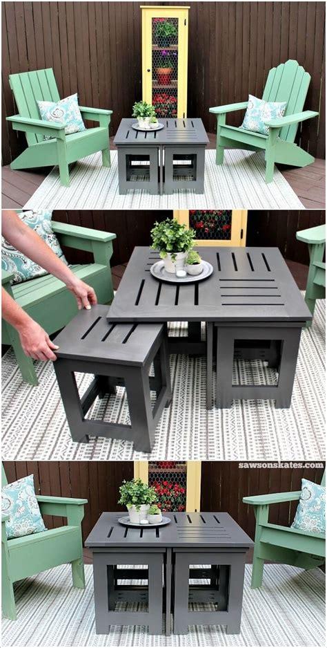 outdoor side table ideas 13 diy outdoor coffee table ideas