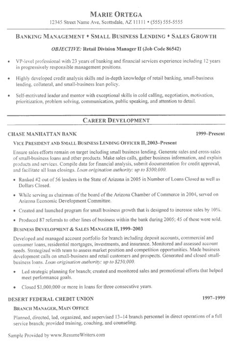 resume format for banking sle resumes resumewriters