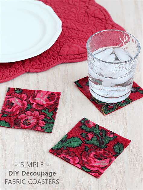how to decoupage with fabric decoupage with vintage fabric diy coasters mod podge rocks