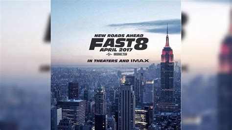 fast and furious 8 poster hollywood star vin diesel instagrammed the poster of fast