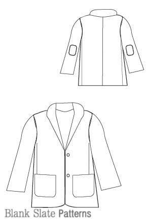 pattern empty line berkshire blazer sewing pattern blank slate patterns