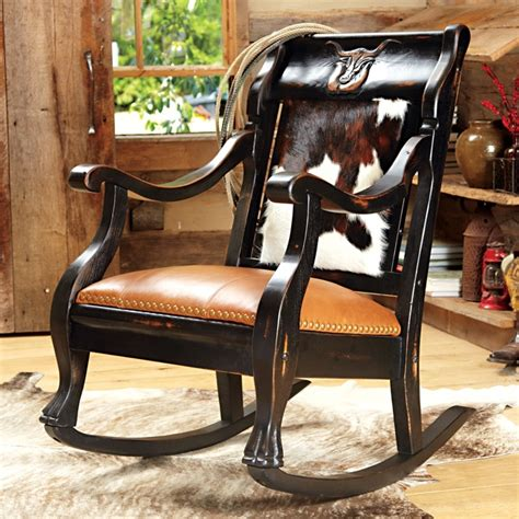 Cowhide Rocking Chair cowhide rocking chair for the home rockers chang e 3 and i