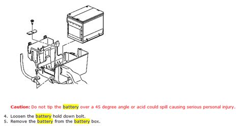 chevrolet equinox lt i need to remove the battery from my