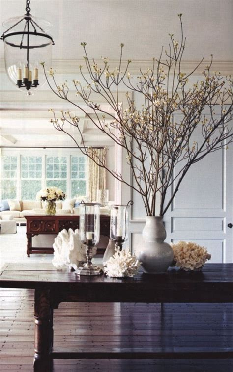bringing the outdoors in decorating with branches