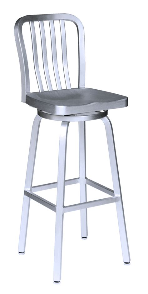 Stainless Steel Outdoor Bar Stools Brushed Aluminum Brushed Aluminum Bar Stools