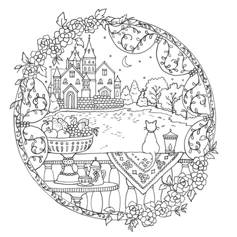Romantic Mandala Coloring Pages | romantic country coloring book mandala coloring books