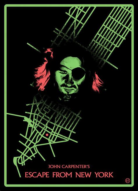 Poster Escape From New York 30x40cm escape from new york by ben turner