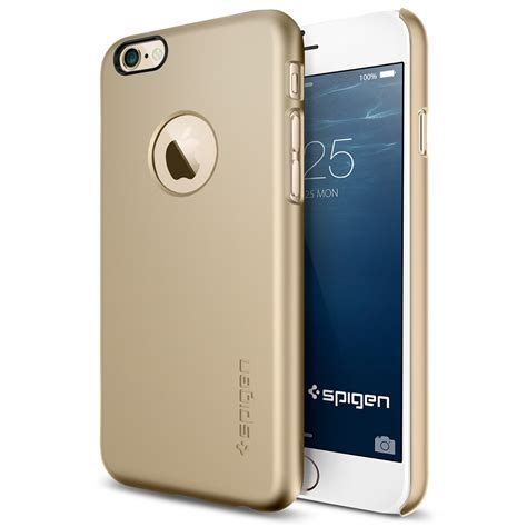 Sgp Thin Fit Logo Cutout For Iphone 6 Oem Golden 1 sgp thin fit logo cutout for iphone 6 oem golden