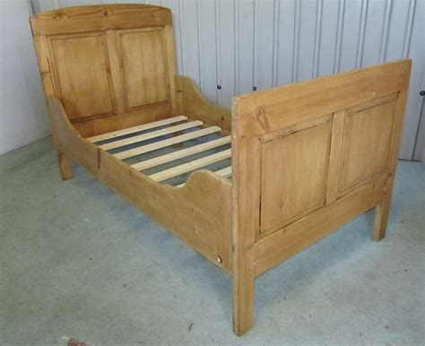 Single Sleigh Bed 19th C Rustic Pine Single Sleigh Bed Antiques Atlas