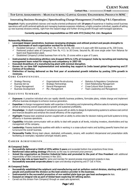 Resume C Level by Free Resume Sles Free Cv Template Free Cv