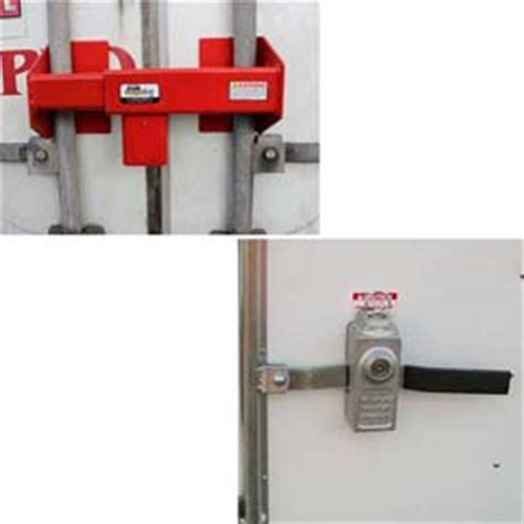 locking lockout devices locks door and containers