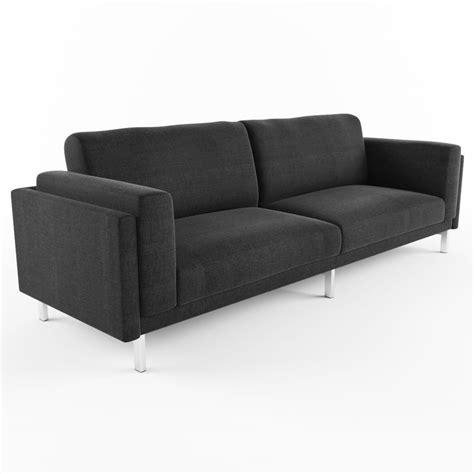 ikea nockeby sofa 3d model nockeby sofa ikea