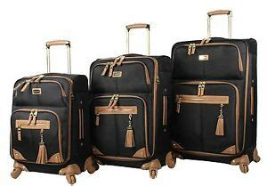 new steve madden luggage 3 softside spinner suitcase set collection ebay