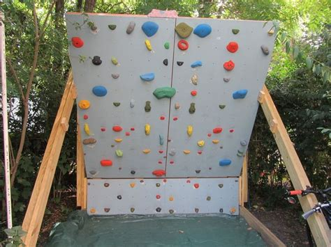 backyard bouldering wall backyard wall diy pinterest