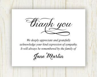 printable thank you cards after funeral damask funeral thank you card printable digital file