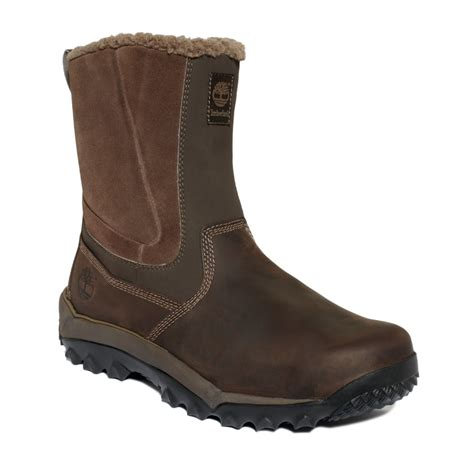 timberland waterproof boots timberland rime ridge slip on waterproof boots in brown