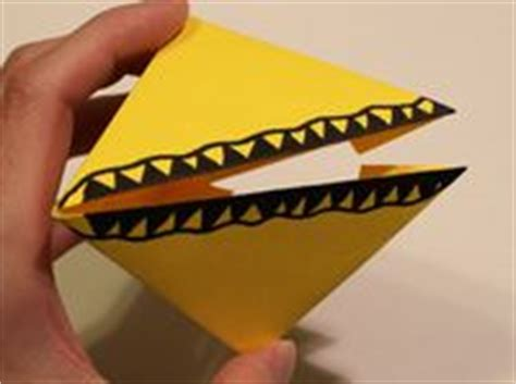 How To Make A Paper Chomper - learn how to make an origami chomper snapper pacman