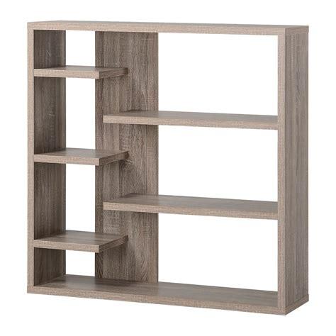 Wood Bookshelf by Homestar 6 Shelf Storage Bookcase In Reclaimed Wood The