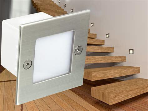 treppen led beleuchtung mit bewegungsmelder led wandeinbauleuchte boden treppen strahler innen und