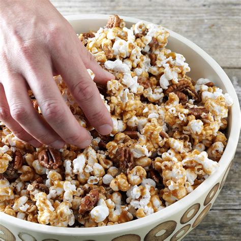 popcorn recipe maple crunch popcorn recipe taste of home