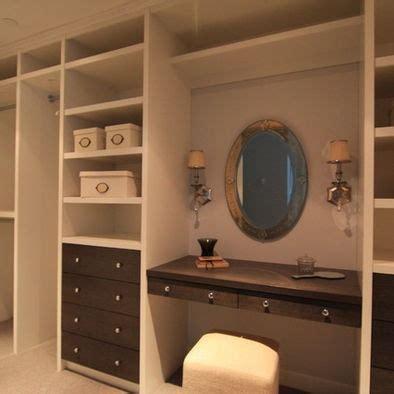 Closet Vanity Ideas by Closet Makeup Vanities In Walk In Closets Design Pictures