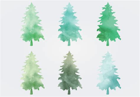 watercolor vector trees free vector stock graphics images