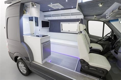Roadtrek Floor Plans by Sprinter Rv Mercedes Brings Its Own Sprinter Camper Van To 2013 Dusseldorf Show
