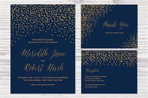 wedding invitation template illustrator 90 gorgeous wedding invitation templates design shack