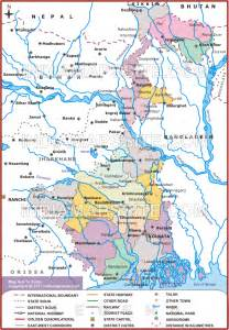 west bengal river map map of west bengal river