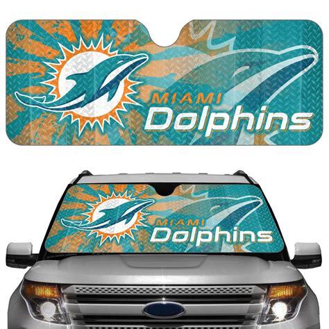 Nfl L Shades by Nfl Auto Sun Shades Miami Dolphins Ebay