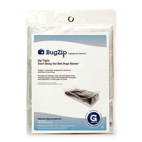 bed bug bags bugzip garment bag size bed bug resistant suitcase and