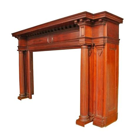 Mahogany Fireplace Mantel by Neoclassical Mahogany Mantel For Sale At 1stdibs