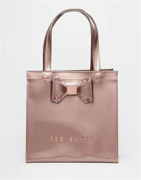 Zen Inspired by Ted Baker Crystal Bow Small Icon Bag In Pink Lyst